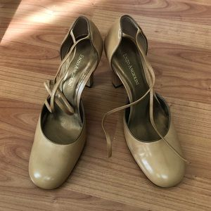 Enzo Angiolini Lace-up Leather High Heels, size 7